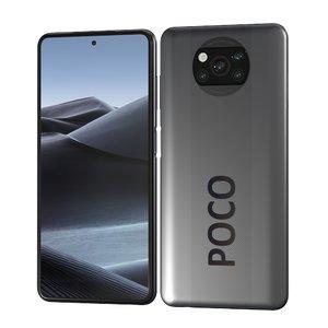 3D xiaomi poco x3 smartphone model