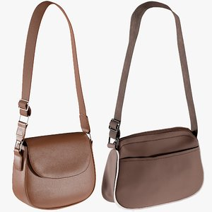 realistic bags 10 collections 3D model