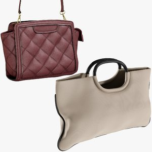 realistic bags 9 collections 3D model
