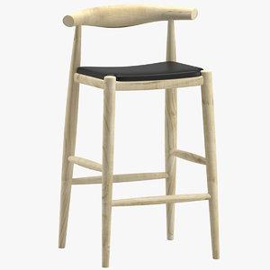 stool carl hansen 3D model