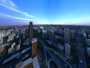 urban complex cbd high-rise model