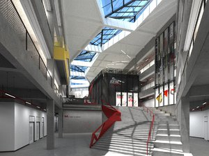 3D shopping mall exhibition hall