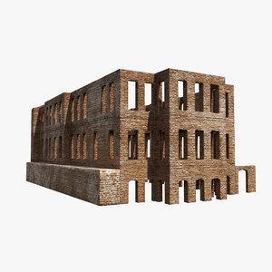 esma sultan mansion wall 3D model