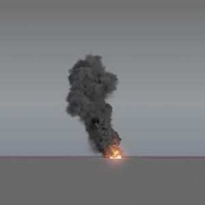 smoke column 02 large 3D model
