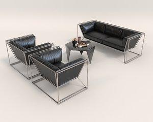 contemporary design sofa 3D model