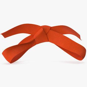 3D orange bow v 4 model