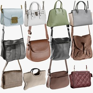 3D realistic bags 12 collections model