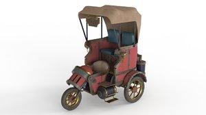 steam punk taxi 3D model