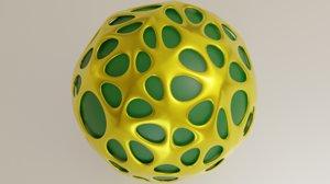 sphere metal 3D model