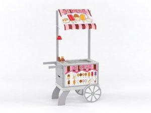 sweets food cart 3D