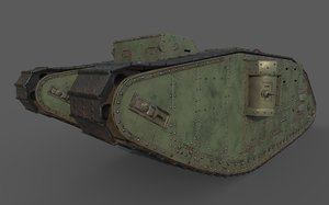 3D model tank mark iv female