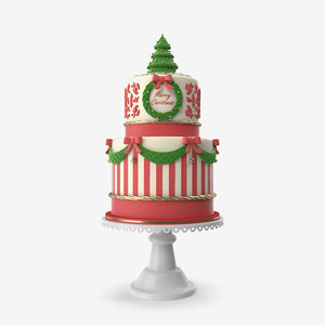 3D merry christmas cake