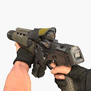 3D plasma rifle