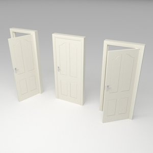 traditional door 3D model