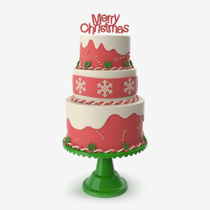 christmas holiday cake 3D model