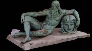 3D photogrammetry vinci sculpture amboise