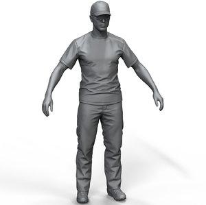 zbrush men s pants 3D