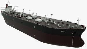 tanker oil trader vessel 3D