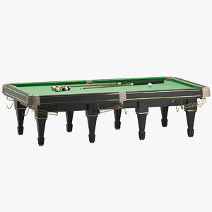 billiard table 04 snooker 3D model