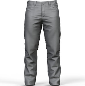 3D zbrush men pants model