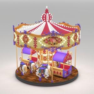 carousel ride 3D