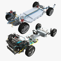Hybrid Car Chassi and Electric Car Chassis Collection