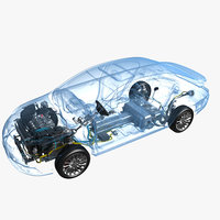 Hybrid Electric Car Chassis X-Ray