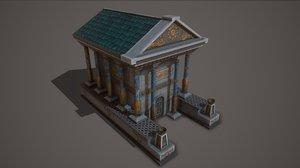 ancient temple 3D model