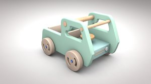 3D wooden car toy