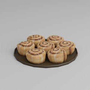 cinnamon rolls 3D model