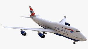 747 british airways 3D model