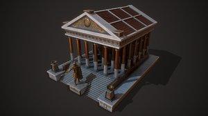ancient temple mars 3D model