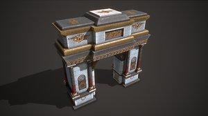 3D ancient arch model