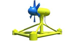 3D tidal turbines model