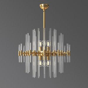 quebec 6 light chandelier 3D