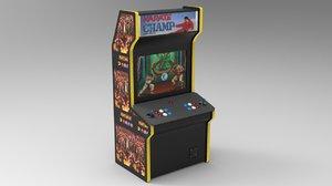 arcade cabinet 3D model