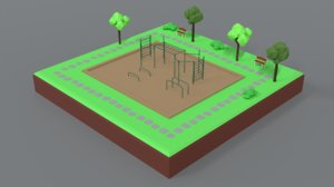park scene 3D