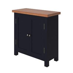 3D oak wooden dark blue model