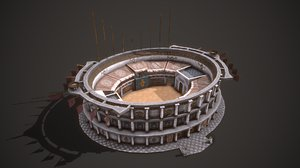 3D model ancient colosseum 01