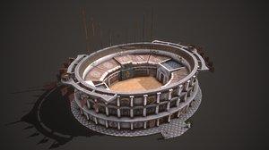 3D model ancient colosseum 01