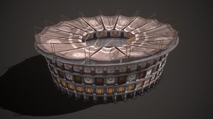 ancient colosseum 3D model