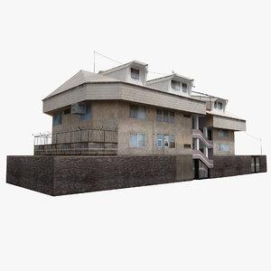 apartment house building 3D