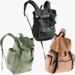 realistic backpack 12 collections 3D model
