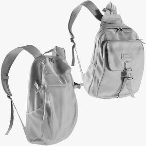 3D mesh backpack 4 - model