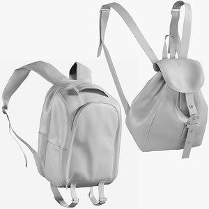 3D mesh backpack 9 - model