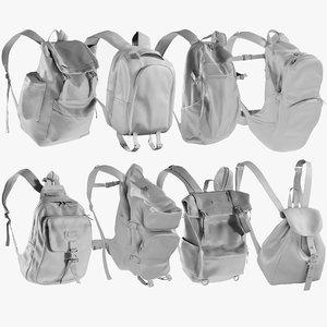 3D model mesh backpack 11 -