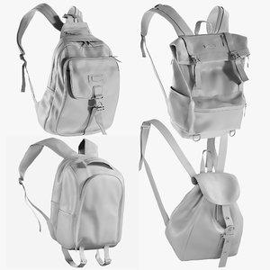 mesh backpack 8 - 3D model