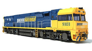 3D locomotive c44aci