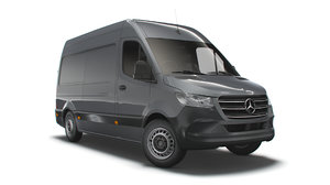 3D mercedes benz sprinter l2h2 model