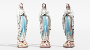 ceramic painted statue st model